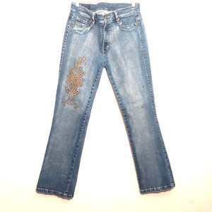 ANGELINA womens jean leggings 12x31 blue mid rise boot cut super stretch jegging